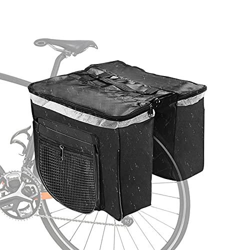 Gohytal Gepäcktaschen für Fahrrad, Gepäckträger Tasche Doppeltasche, Multifunktionale Gepäckträgertasche,Wasserdicht Fahrradtaschen mit Griff,Schwarz Reißfeste für MTB,Rennrad, Rack Carrier,Fahrrad