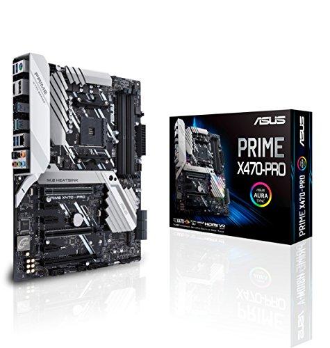 Asus Prime X470-PRO Mainboard AM4 (ATX, X470-Chipsatz, Aura-Sync, DDR4 3466MHz, dual M.2, USB 3.1 Gen 2)