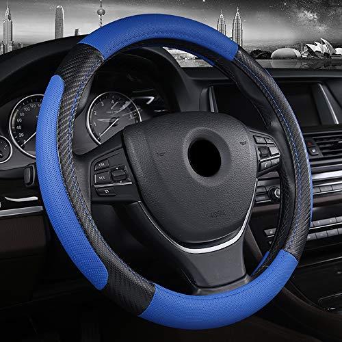 Cubierta del Volante Ambiente Cómodo De Cuero De Moda Antideslizante, 34-50 Cm Adecuado para La Mayoría De Los Modelos, Azul},34cm