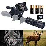 Megaorei Video Record Night Vision Rifle Scopes-328yard/984ft HD720P Photo Taking,3MP 16MM IR Optics Scope Hunting Camera for Riflescopes-4.3' Portable HD Display Screen with 32G SD Card