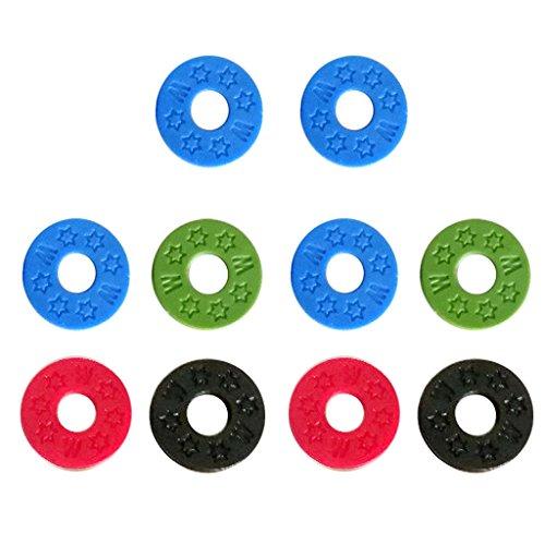 B Blesiya 10 St. Gummisicherheits-Sicherungs Waschmaschine Sicherungsunterlegscheibe für akustische E-Bass Ersatz