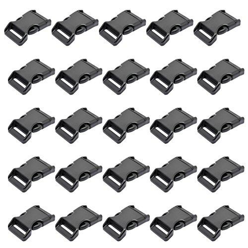 LIHAO 25x Klickverschluss für 25mm Gurtband Steckschnallen Steckschließer 1