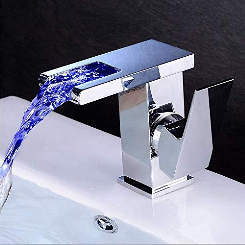 Jukunlun Becken Wasserhahn Bad Led Wasserhahn Hei Kalt Wasserfall Wasserhahn Schwarz l Gebürstet Waschbecken Mischbatterie Badezimmer Deck Montiert Toilette Wasserhahn