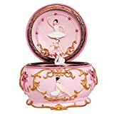 Singeek Ballerina Girl Mechanism Rotate Music Box with Colorful Lights and Sankyo 18-Note Wind Up Signs of The Girl Heart Gift for Birthday Christmas (Always with Me)