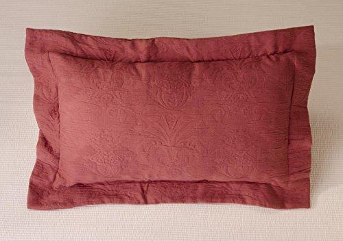 Kissen Wohnen & Accessoires Joli Coussin Lune en Rouge 50 x 30 cm de de Traitement de Bordeaux matelassé avec Classique et Intemporel Ornament Design