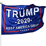 Filimino Keep America Great Flag - President Donald Trump 2020 Flag 1Pcs - Vivid Color and UV Fade Resistant 3x5 Feet with Grommets Double Stitched