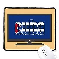 キューバの旗国の名前 マウスパッド・ノンスリップゴムパッドのゲーム事務所