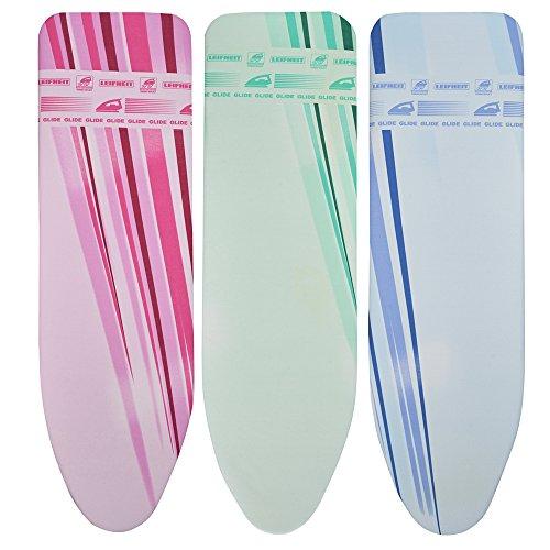 Leifheit Bügeltischbezug Thermo Reflect Glide Universal, für Bügelflächen bis max. 140 x 45 cm, für Dampfbügeleisen, mit Dampf, Hitzereflektion und zusätzlicher Gleitzone für superschnelles Bügeln