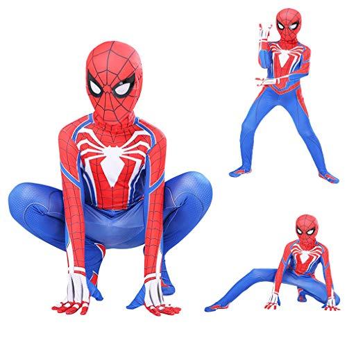 Supereroe Spiderman Costumes Kids Lycra Spandex Halloween Cosplay Zentai Spider Verse Miles Morales Body Body Halloween Costumi Costumi Costumi per Bambini,120