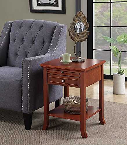 Indoor Multi-Function Accent Table Study Computer Desk Bedroom Living Room Modern Style End Table Sofa Side Table Coffee Table Drawer End Table