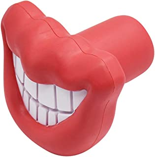 THE MIMI'S Dogs Sound Toys Funny Big Red Lip Teeth Pets Cats Squeaker Chewing Playing Toy