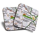 Gran posavasos (juego de 2) cuadrados, Blandford Forum Travel Holiday/Glossy Quality Posavasos de calidad para cualquier tipo de mesa #44338