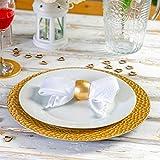 Argon Tableware Serviettenringe aus Gold - 6er Packung - 4