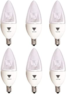 TriGlow T95537-6 (6-Pack) 5-Watt (40W Equivalent) LED Candelabra Bulb, DIMMABLE 5000K (Daylight White Color) 325 Lumen E12 Candelabra Base Light Bulbs, UL Listed