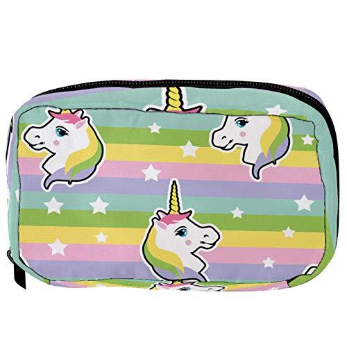 Pequeña bolsa de cosméticos para bolso, bolsa de maquillaje, bolsa de cosméticos, bolsa de viaje, neceser de viaje, neceser para lápices, monedero con cremallera, arco iris