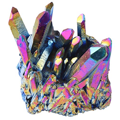 CLISPEED Racimo de Cuarzo Arcoíris Espécimen de Piedra de