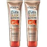 L'Oreal Paris EverSleek Keratin Caring Sulfate Shampoo & Conditioner Kit