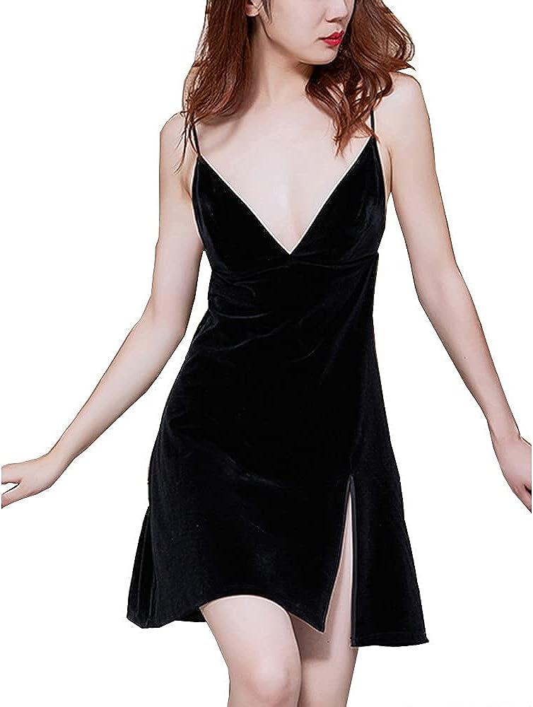 Women's cheap Cheap mail order shopping Sleepwear Sexy Lingerie Chemise Ni Night Nightgown Dress