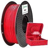 CERPRiSE PLA Filament 1.75mm, 3D Printer Filament PLA, No-Tangling, Dimensional Accuracy +/- 0.03 mm, 1 kg (2.2lbs) Spool, Red