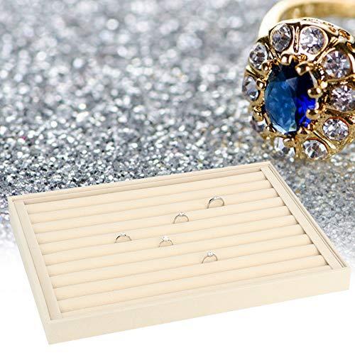 FOTABPYTI Caja de Almacenamiento de exhibición de joyería, Organizador de contenedor de Pendiente de Collar de Pulsera Caja de Almacenamiento de exhibición de joyería(Bandeja de Anillo)