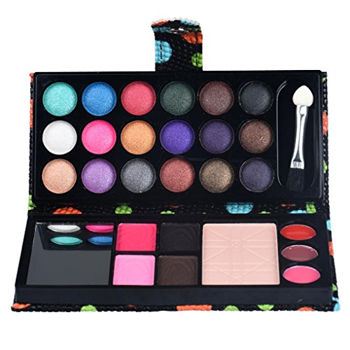 MChoice 26Colors Eye Shadow Makeup Palette Cosmetic Eyeshadow Blush Lip Gloss Powder (Black)