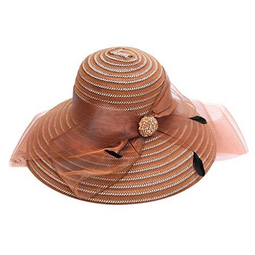 LEEDY ? - Vestido de mujer de la iglesia Derby, fascinador, gorro de novia, té, fiesta, boda, sombrero solar, sombrero de moda