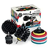 2021 Version - Grill Accessories - Grill Brush And Cleaner - Power Scrub Drill Brush - Cleaning Brush - Blue Cleaning Pads - Drill Brush Pads - Bathroom Cleaning - Shower Cleaner - Drillbrush Kit