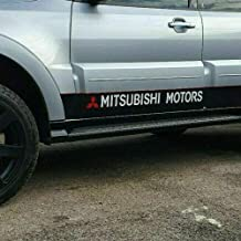 SCOOBY MAD Mitsubishi - Adhesivos para el Lado de los Motores (2 Unidades), Color Rojo y Blanco
