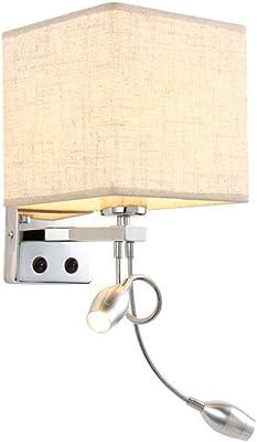 Luz de cabecera LED con interruptor Luz de lectura flexible Lámpara de cabecera PARA escalera Sala de estar Pasillo de dormitorio Balcón-Blanco blanco cálido: Amazon.es: Iluminación