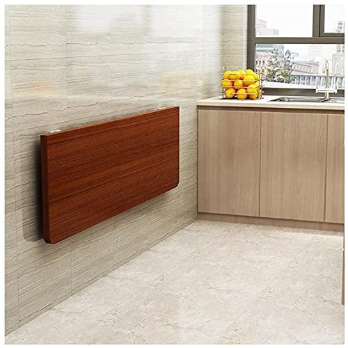 Mesa de pared plegable,Escritorio plegable de madera,Mesa de cocina plegable de teca