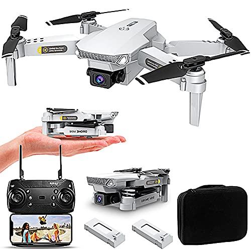 POTIKA Drone RC Com Câmeras HD 4K Para Grandes ângulos, Mini Drone Quadcóptero dobrável 15 mins 360° Flip 6-Axis Gyro Voo sem cabeça Modo 3D Flip Altitude Hold Modo, 2 Bateria