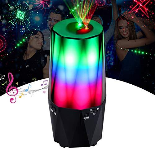 Crazyfire LED Projektor, Rotierende Blitzprojektor Nachtlichter, Disco Projektionslampe, Magic Farbwechsel Musikspieler Lampe Musik-Player mit Bluetooth für Kinder Erwachsene Zimmer Dekoration
