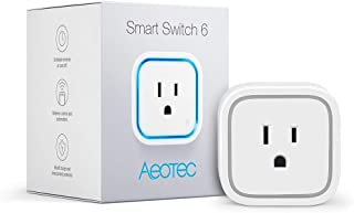 Aeotec Smart Switch 6, Zwave Switch Z-Wave Plus Plug 15A for Home Security Automation Z-Wave Power Monitor, Without USB Port