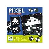 Djeco- Juegos de Acción Y Reflejos Educativos Pixel Tangram, Multicolor (15)