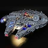 Kit De Iluminación Led para Lego Star Wars Halcón Milenario Ultimate, Compatible con Ladrillos De Construcción Lego Modelo 75192, NO Incluido El Modelo