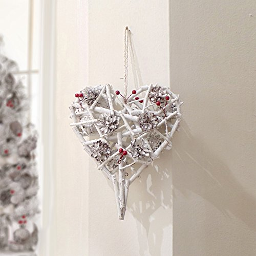 Ghirlanda Natale Shabby chic Pinecones and Berries Collection Small Blanc Mariclo