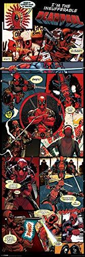 Deadpool 'Panels' Tür Poster,53 x 158 cm