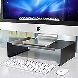 Newaner Support de moniteur,Réhausseur d'Écran PC,Métal Support d'Écran,Moniteur screen riser stand,ergonomique pour ordinateurs portables,iMac,TV,Projecteur,imprimante jusqu'à 30 kg (Noir)
