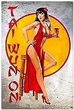 YY-one Retro Tai Wun On - Letreros de metal para chica pin-Up 8 x 12 pulgadas personalizados para ti...