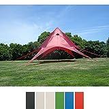 CLP Carpa en Forma de Estrella I Carpa de Eventos con 10 Metros de Diámetro I Carpa de Jardín con un Área Cubierta de 15 m² Aprox. I Color: Rojo