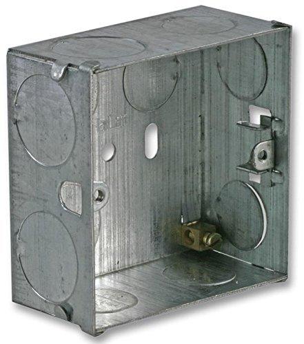 Rhinocables Singolo 1 Gang metallo Electircal Scatola da incasso Contenitore Monte 16mm, 25mm, 35mm, 47mm (35 mm)