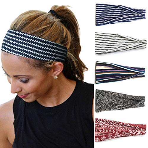 Headbands For Women Elastic Cute Turban Hair Bands Accessories Head Wraps For Girls 5 Pcs