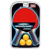 Juego de tenis de mesa para 2 jugadores con 2 bates y 3 pelotas de ping pong