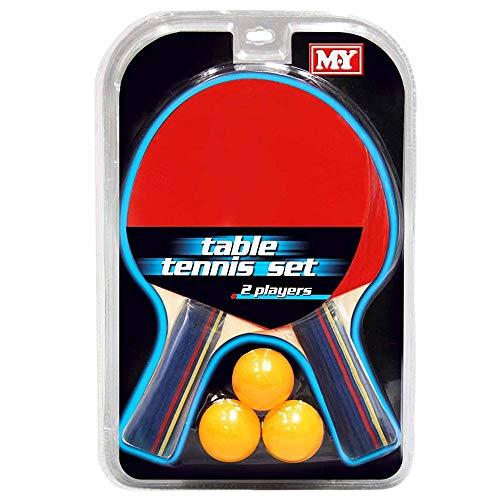 Rete Morsetti Set Ping Pong Champion Con 2 Racchette in Legno Palline