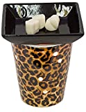 EVELINA Exotic Leopard - Scented Wax Warmer for Aromatherapy - Corded Electric Light-Up Wax Warmer for Scented Wax Melts - Scentsy Alternative - Perfect Decor for Home or Office