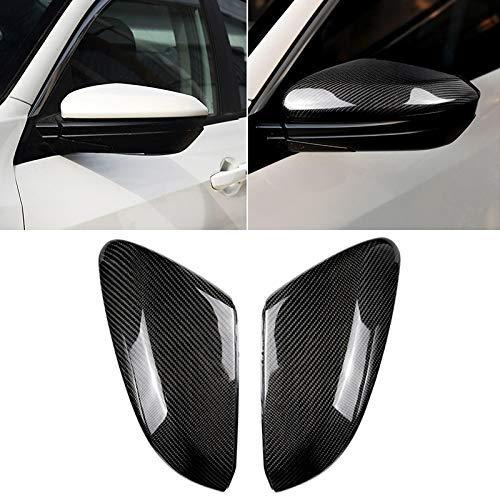 KEKEYANG Vinilo Coche Los depósitos de coches de punto ciego del coche del espejo retrovisor de fibra de carbono espejo del lado del ala espejo Tapa for la generación Civic2 FOR For Honda Décima (PCS)