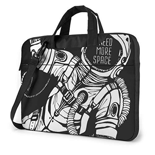 Portable Laptop Sleeve with Handle Tablet Carrying Case Accessory I Need More Space Astronaut Cosmic Notebook Computer Bag