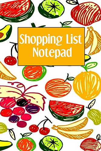 Shopping List Notepad: Weekly Grocery Planner Notebook -...