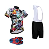Best Cycling Bib Shorts - Men's Quick-Dry Cycling Jersey Set Road Bike Bicycle Review