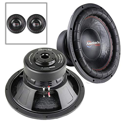 """2 Pack American Bass 15"""" Subwoofer 1200W RMS Power DVC 4 Ohm Elite 1544 Series"""